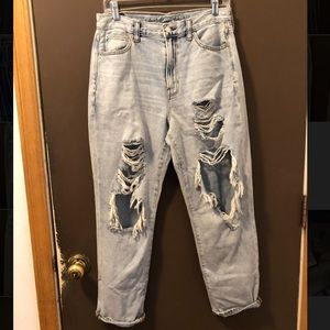 American Eagle Ripped Mom Jeans